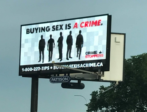 Buying Sex is a Crime is a national billboard campaign